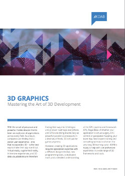 Download 3D Graphics: Mastering the Art of 3D Development whitepaper