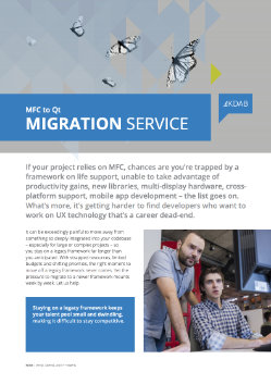 Download MFC to Qt Migration Service whitepaper
