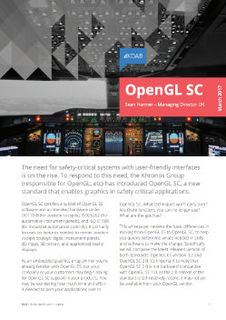 Download OpenGL SC for safety critical graphics whitepaper