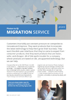 Download Photon to Qt Migration Service whitepaper