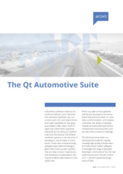Download Qt Automotive Suite whitepaper