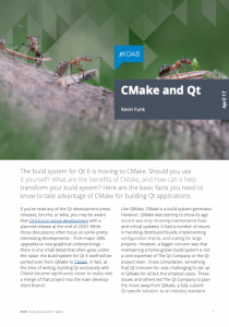 CMake and Qt