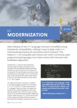 , C++ Modernization Brochure