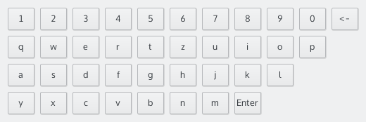 Keyboard UI