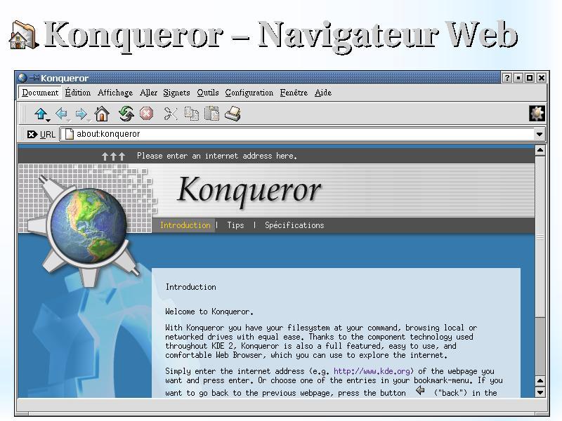 konqueror navigateur