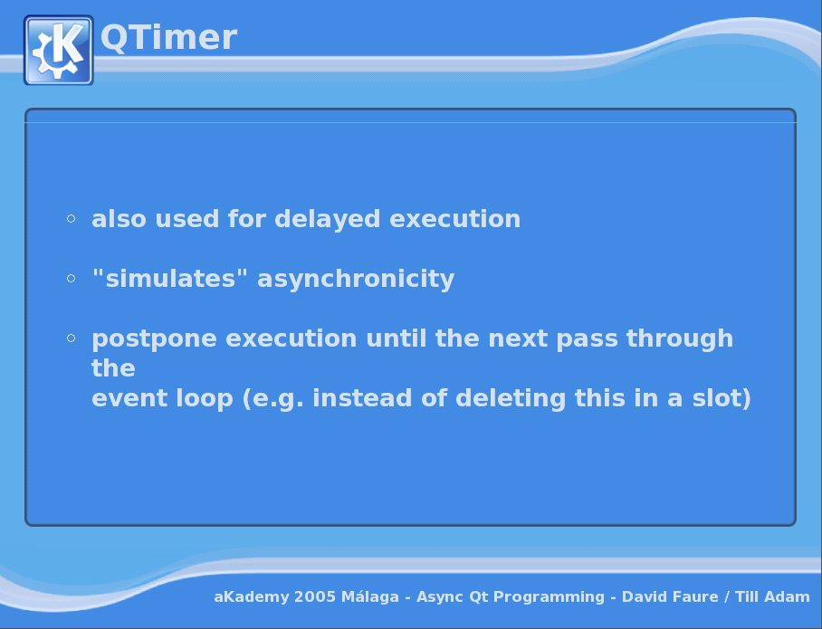 Asynchronous Programming with Qt - QTimer