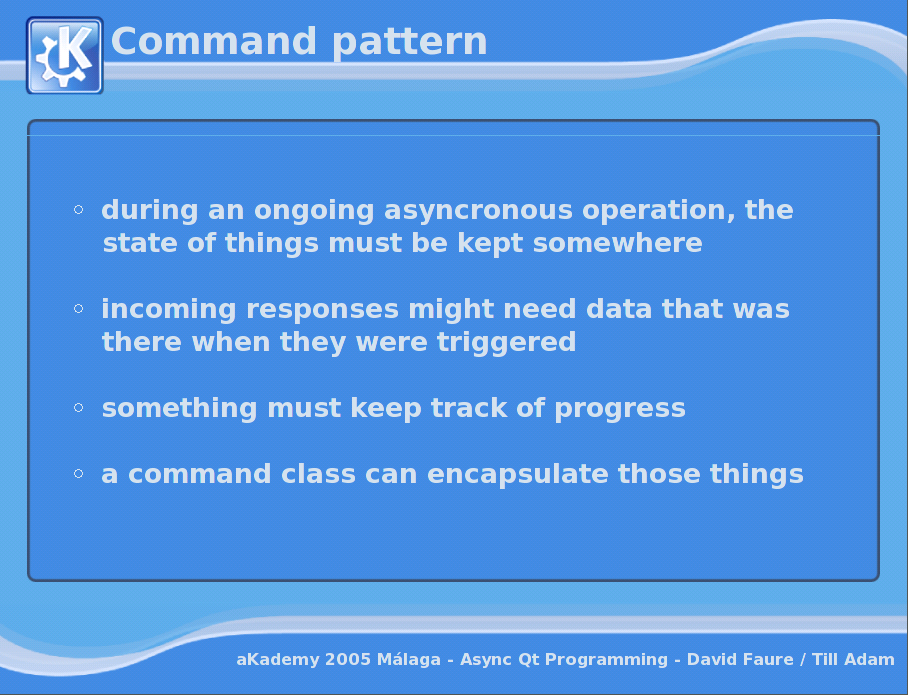 Asynchronous Programming with Qt - Command pattern